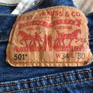 Brand new pair of Levi's 501 blue denim jeans